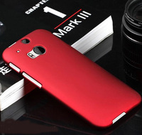 For HTC One M8 Rubber Plastic Case Anti Skid Matte Rubber Hard Cover For HTC ONE M8 ONE + ONE 2  Phone Case Black
