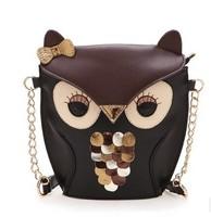 Free shipping 2014 new fashion women leather handbag cartoon bag owl fox shoulder bags women messenger bag