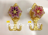 High quality Fashion European style good design&craft plating gold  curtain hook/ tieback/holdback 5 colors available