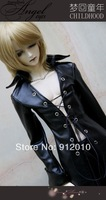 Super long black coat (xl)    1/4 1/3 BJD SD MSD Clothes Free Belt Necklace