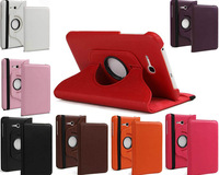 """360 Rotating Leather Stand Case Cover For Samsung Galaxy Tab 3 Lite 7.0 T110 7""""  (Not for Samsung Galaxy Tab 3 7"""")"""