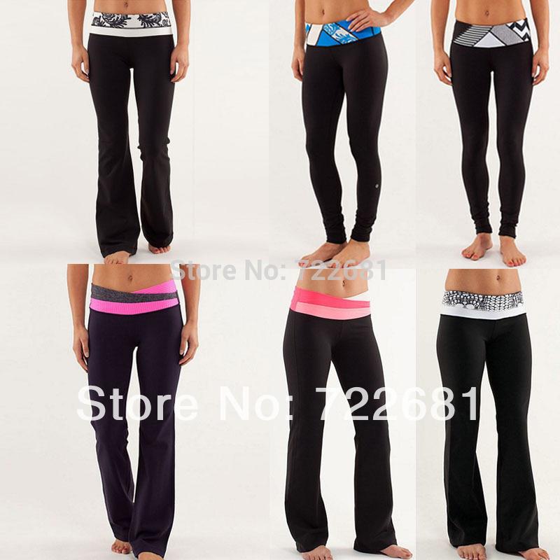 Livraison gratuite gros 2014& détail, nouvelle marque de créateur de la caverne luon à bas prix des vêtements longs pantalons de yoga yoga pantalon flare, taille 2,4,6,8,10,12