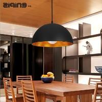 Black aluminum metal lamp cover pendant light industrial light lamp cover lamp bar pendant light half ball lighting