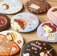 Free ship!20pc!cartoon girl style Cosmetic mirror / sweet Korean girl makeup mirrors / portable mirror