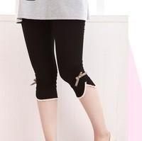 Fashion Maternity summer maternity pants legging bow maternity pants trousers leggings black Free shipping
