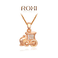 Wholesale ROXI Fashion Accessories Jewelry CZ Diamond Austria Crystal With SWA Element Train Pendant Necklace for Women
