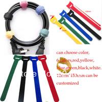 50pcs/lot  Reusable Tie Strap Back To Back Cable Tie Velcro Nylon Strap Power Wire Management, Magic Tape Sticks