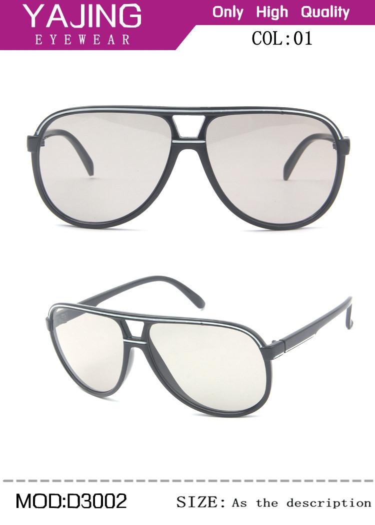 Free Shipping New Universal Pilot Polarized Passive 3D Glasses Vision Plastic 3D Glasses Film TV DVD Movies 3D Glasses #3002(China (Mainland))