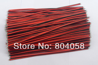 Free Shipping 200pcs 2pin Cable 22 AWG Single Color Led Strip Red Black Connecting Wire 20cm DIY Cable!200pcs/Lot!