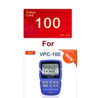 Token Card! 100 Tokens for SuperOBD VPC-100 Handheld PIN code Calculator VPC100 IMMO Key code Reader
