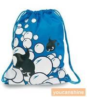 Swimming Cartoon Fish Swim Shoulder Backpack Backrucks Canvas Beach Drawstring School Bag Children Unisex Water Sports Gym