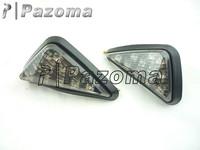 Pazoma Motorcycle Flush Mount LED Euro Smoke Turn Signals For Honda CBR600 929 954 1000 RR F4i