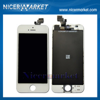 Free Shipping DHL10pcs/lot 100% Tested For iphone 5G Cell Phone Cracked Screen Replacement LCD With Digitizer Display