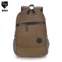 new 2014 trendy Korean version of casual men canvas backpack men schoolbag vintage backpack Students laptop backpack women