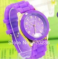 Geneva Casual Watch Women Dress Watch Quartz Military men Silicone watches Unisex Wristwatch Sports watch 100pcs/lot wholesale