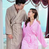Hilift terry bathrobes 100% cotton male women's lovers robe thick autumn and winter bathrobe medium-long plus size plus size