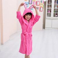 Hilift 100% cotton terry child bathrobe male girl baby bathrobe robe autumn and winter thick Towel rod kids