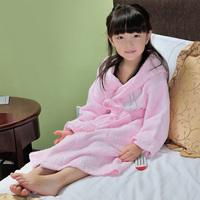 shipping free! Child bathrobe male female child Indian fiber toweled thickening hooded bathrobe  hot sell!