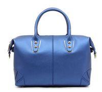 NEW Black/Red/Blue/Pink/Gold Women Real Cow Leather Handbag Tote Shoulder Bag 1379