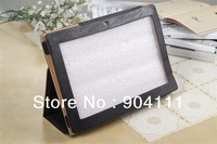 "5pcs/lot, Original PU Leather Case Stand Cover For 10.1"" Lenovo S6000 Tablet PC, Black/Brown, Free Shipping"