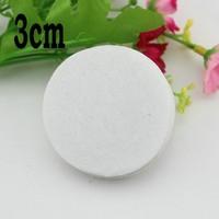 3cm white color Round Felt fabric pads accessory patches circle felt pads,DIY fabric flower accessories1000pcs/lot