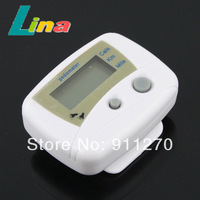 10pcs/lot LCD Digital Pedometer Step Calorie Counter Walking Distance Clip On