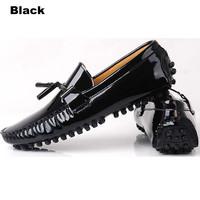 US6-12 patent Leather Mens Comfort tassel Loafer slip on dress shoes Black