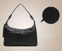 NEW Real Genuine Cow Leather Women's Vintage Woven Tote Shoulder Bag Purse Handbag