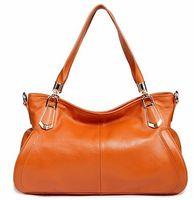 NEW Brown, Dark Blue, Sky blue Women Top Cow Leather Handbag Shoulder Bag 3P0866