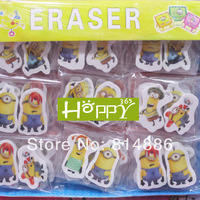 Despicable Me 2 Eraser  pencil Eraser Stationery Kid Students Gift Toy  Free shipping 20pcs/10bag/lot