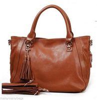 NEW Top Grain Real Genuine Cowhide Leather Women Handbag Tote Messenger Shoulder Bag