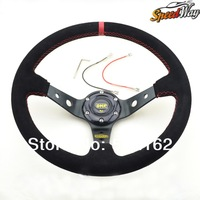 819 Big Sale Speed Way - Steering wheel ID 14inch OMP Deep Corn Drifting Steering Wheel / Suede Leather