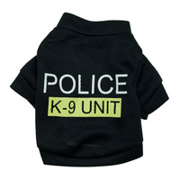 Cool Dog Cat Police Pet Clothes T-shirts Waistcoat Dog Products For Dogs