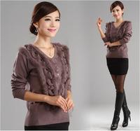 Women's medium-long Cashmere Sweater Medium-long Basic Sweater Ladies Pullovers