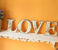 """European Countryside Style Letter """"LOVE"""" Decoration High Quality Fasion Wedding Decoration Gift Wall Decor Home Furshings W1044"""