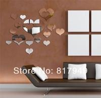 16 pcs 3D Mirror Wall Sticker Home decor big SIZE decorative wall clock wall watche Modern design living room wall decor P036