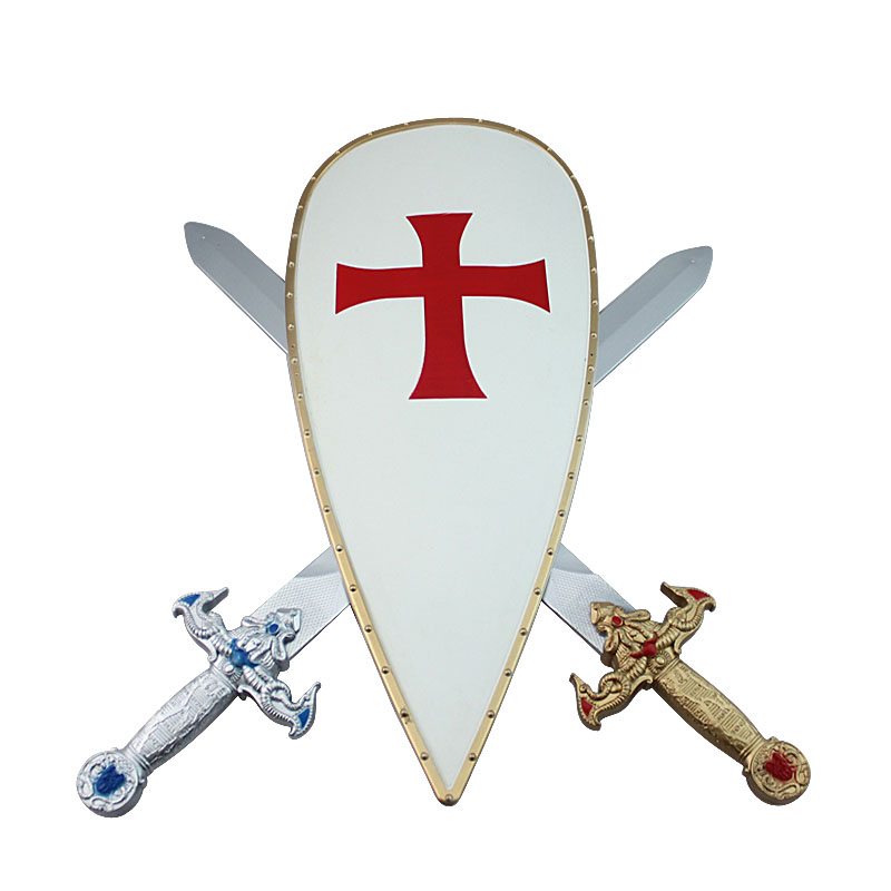 Christmas performance props sword double sword shield toy cos party supplies(China (Mainland))