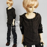 Casual Hooded Boy T Shirt  for BJD DOLL 1/4 MSD 1/3 SD10/13,SD17,Uncle Clothes