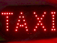 10PCS/LOT 45SMD LED TAXI Sign Board Light Indicator License Plate Lighting In Night Driving White Red Blue Amber Mix Color
