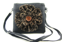 Free shipping Flower women handbag  Shoulder Strap Bag Cross-body   Camera Cellphone Pouch bag 17*17CM