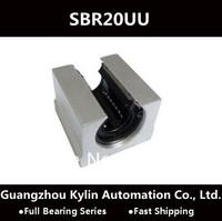 Best Price! 4 pcs SBR20UU Linear Bearing 20mm Open Linear Bearing Slide block,free shipping 20mm CNC Router linear slide