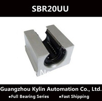Best Price! 4 pcs SBR20UU Linear Bearing 20mm Open Linear Bearing Slide block,free shipping 20mm CNC Router linear slide