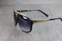 Free Shipping  2014   LVZ   square Evidence  sunglasses men brand designer eyewear & accessories original  sun protection UV 400