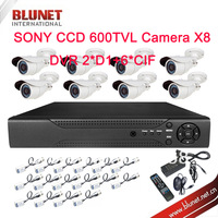 2014 Best Home Sony CCD 600TVL Night Vision Outdoor Waterproof Video Surveillance 8CH CCTV Camera System Kit