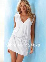 Brand New Fashion Solid Bikini Dress Holiday Beach Dress Casual Swim Cover-ups 10 Colors Wholesale and Retail
