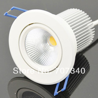 2.5'' 8W   rotatable downlight  recessed led lamp  COB led lamp indoor home lighting