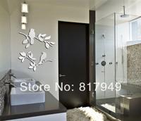 Love is a bird3D Mirror Wall Sticker Home  decorative wall clock wall watche Modern design living room wall decor P049
