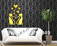 Love is a bird3D Mirror Wall Sticker Home  decorative wall clock wall watche Modern design living room wall decor P065