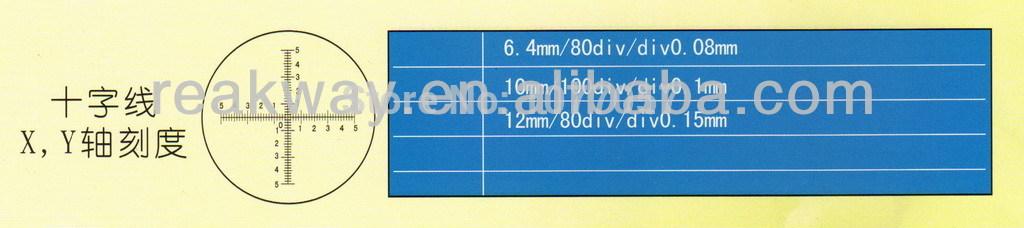 Microscope Eyepiece Reticles Microscope Eyepiece Reticle Calibration Slide