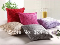 10pcs 40*40cm High quality Luxury Fashion velvet fabric Jacquard cushion cover pillow cases 100 colors in Free Shipping